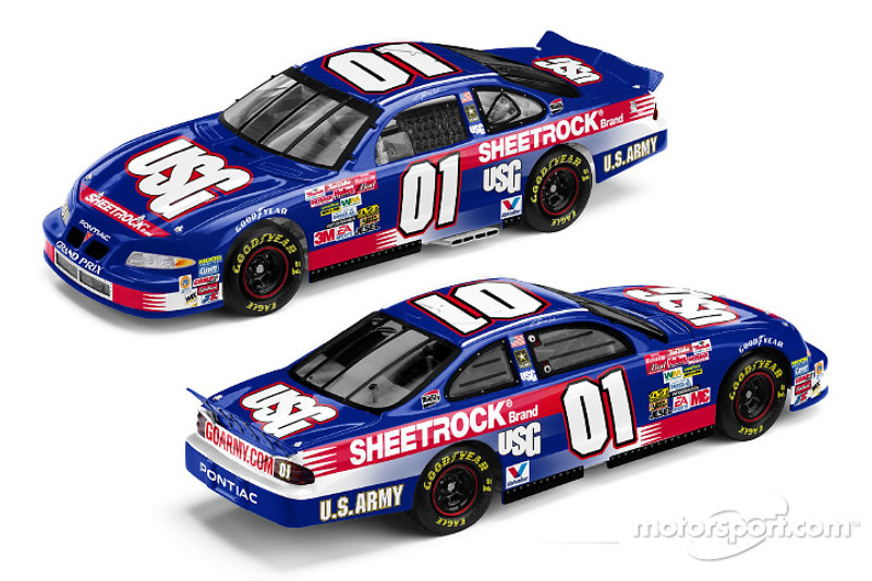 MB2 Motorsports No. 01 USG Pontiac Grand Prix that will compete this weekend in Las Vegas; USG announced it will be a primary sponsor of the MB2 01 Pontiac at four races in 2003