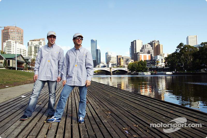 Fernando Alonso and Jarno Trulli visit Melbourne