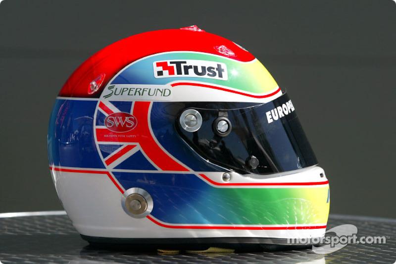 Justin Wilson's helmet