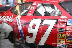 Kurt Busch's car after the race
