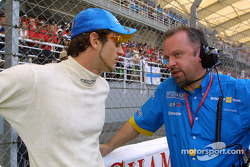 Jarno Trulli and Mike Gascoyne