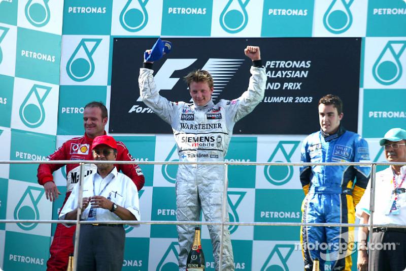 2003: Primeira vitória de Raikkonen