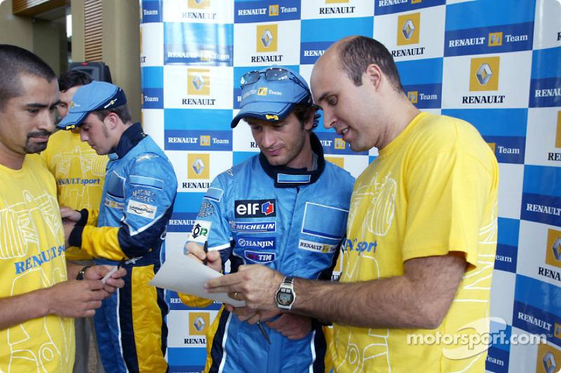 Visit of the Ayrton Senna Renault Factory in Curitiba: Fernando Alonso and Jarno Trulli