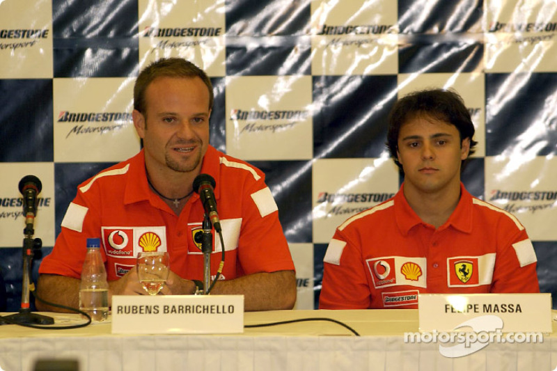 Bridgestone press conference: Rubens Barrichello and Felipe Massa