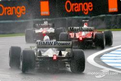 David Coulthard, Michael Schumacher and Ralf Schumacher
