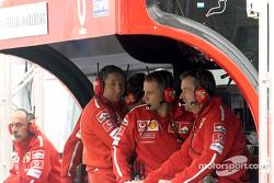 Jean Todt at Ferrari pitwall