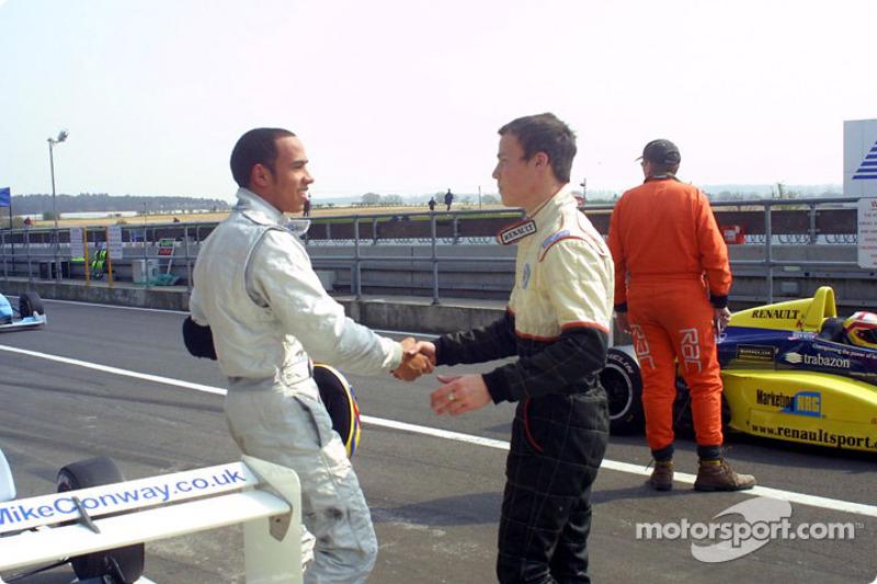 Lewis Hamilton e Alex Lloyd
