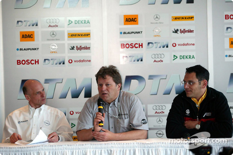 Press conference: team bosses Volker Strycek, Norbert Haug and Hans-Jürgen Abt