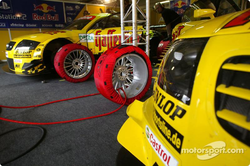 Hasseröder Abt-Audi garage area