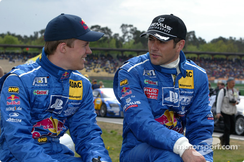 Mattias Ekström and Karl Wendlinger