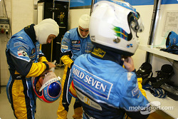 Jarno Trulli, Fernando Alonso and Allan McNish