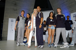 BMW WilliamsF1 Fashion Show in Barcelona: Nadja Auermann and Juan Pablo Montoya