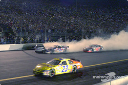 Jimmie Johnson and Todd Bodine tangle