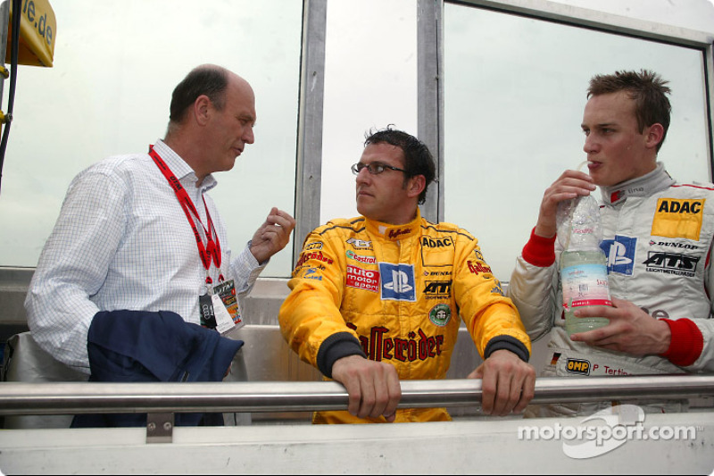 Head of Audi Sport Dr Wolfgang Ullrich, Christian Abt and Peter Terting