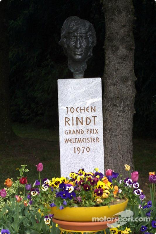 Monumento para el austríaco legendario campeón del mundo Jochen Rindt