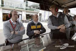 Alain Uyttenhoven (Opel Member of the Board), Volker Strycek (Opel motorsport director), Günther Holzer (Team principal OPC Team Holzer), Wolfgang Schumacher (Team manager OPC Team Holzer)