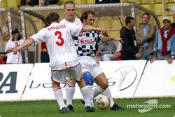 Football match at Stade Louis II in Monaco: Jarno Trulli