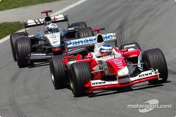 Olivier Panis y David Coulthard