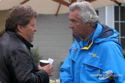 Nobert Haug y Flavio Briatore