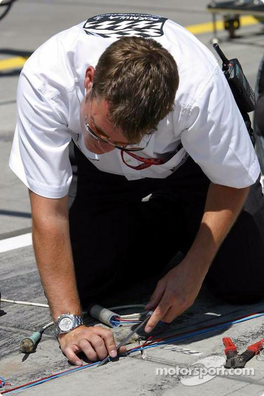 Préparation de l'équipement électronique dans les stands