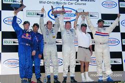 Podium: race winners Terry Borcheller, Forest Barber