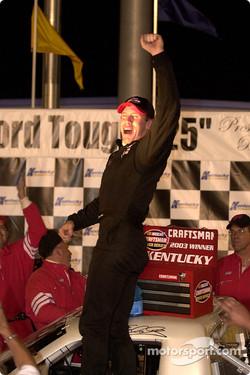Race winner Carl Edwards