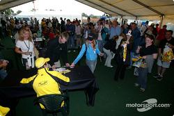 Jordan Fan Club event: Ralph Firman signs autographs for fans