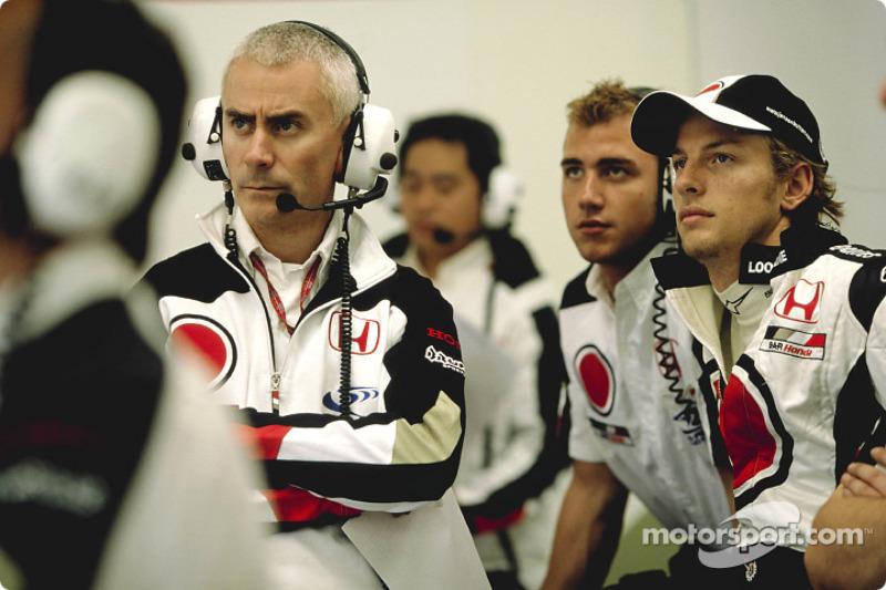 Geoff Willis y Jenson Button