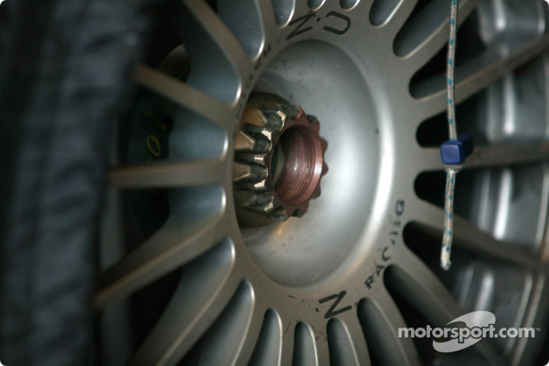 Detail of a OZ Racing wheel