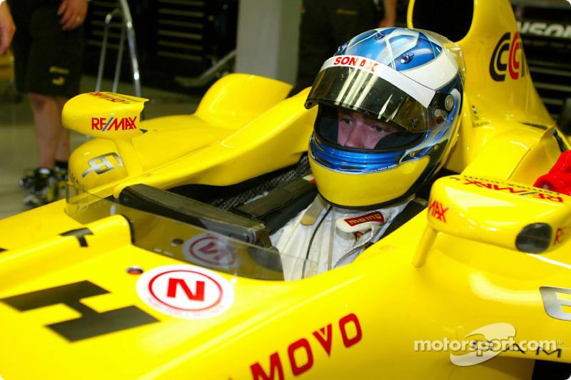 Nuevo campeón de la F3000 Bjorn Wirdheim tiene un asiento accesorio en el Jordan