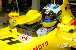 New F3000 champion Bjorn Wirdheim has a seat fitting Jordan