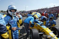 Jarno Trulli en la parilla de salida