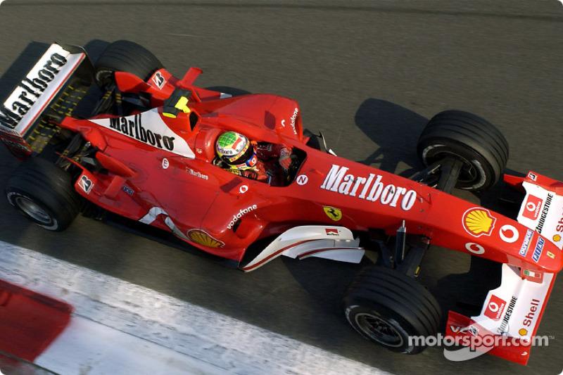 2003: ano de estágio na Ferrari