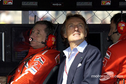 Jean Todt and Luca di Montezemolo at Ferrari pitwall
