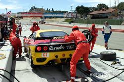 #28 JMB Racing USA/Team Ferrari Ferrari 360 Modena during a pit stop