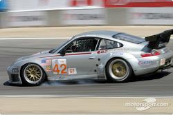 #42 Orbit Racing Porsche 911 GT3RS: Jay Policastro, Joe Policastro locks its brakes in turn 8