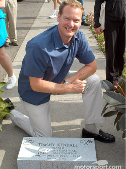 Tommy Kendall with his stone