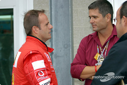 Rubens Barrichello and Gil de Ferran