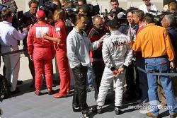 Interviews for pole winner Kimi Raikkonen