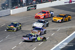 Jimmie Johnson tries going down the front straight backwards