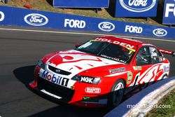 Mark Skaife hugs the wall at the Cutting