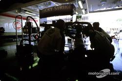 BAR-Honda pit area