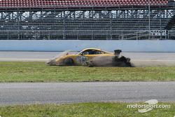 #98 Schumacher Racing Porsche GT3 RS: Larry Schumacher, B.J. Zacharias spins