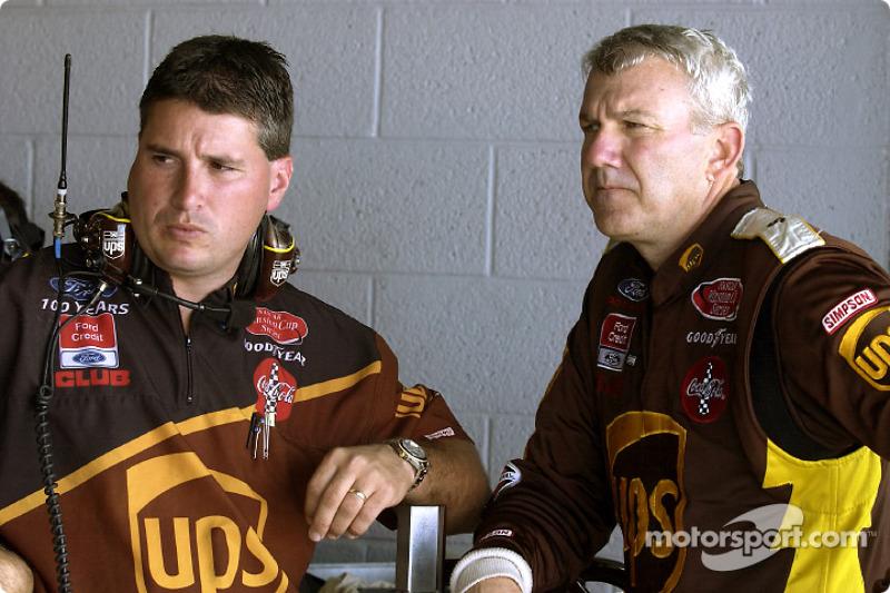 Dale Jarrett and crew chief Shawn Parker