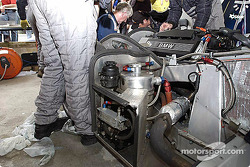 Adam Sharpe Motorsport pit area