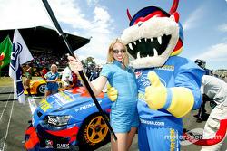 Marcos Ambrose devil racer mascot