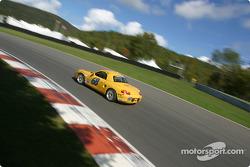 la Porsche Boxster n°68 de l'équipe SpeedSource pilotée par Scott Schlesinger, Sylvain Tremblay