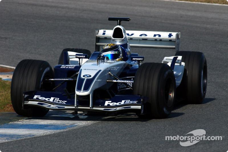2003年12月:再次参加威廉姆斯车队的F1测试