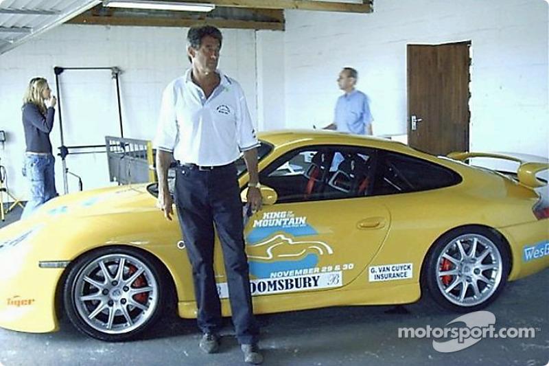 Ashley Landman alongside his Porshe GT3