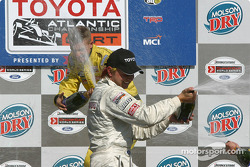 Podium: champagne for A.J. Allmendinger and Ryan Dalziel